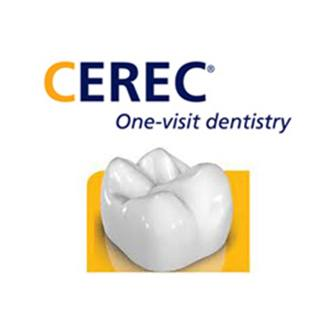Dental crown and CEREC logo