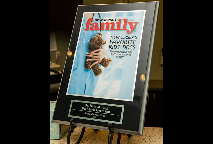 New Jersey's favorite kids' doc award plaque