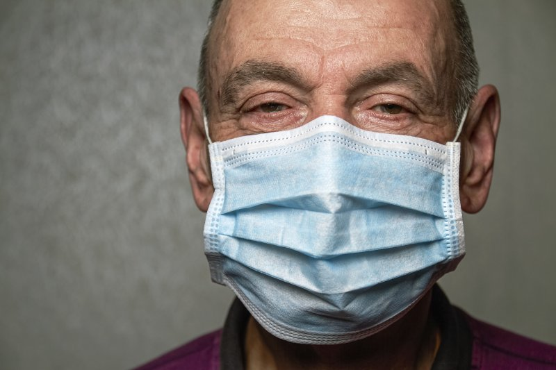 an older man wearing a face mask to protect himself against COVID-19